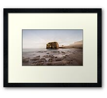Marsden Rock Streaks Framed Print