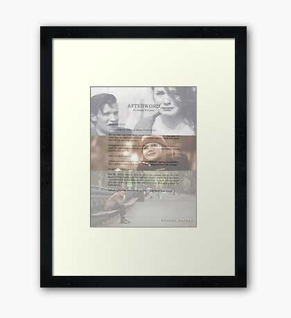 Afterword By Amelia Williams Framed Print
