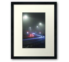 Foggy Lights at Junction Framed Print