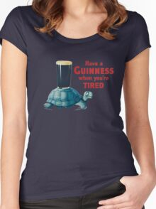 HAVE A GUINNESS WHEN YOUR'E TIRED Women's Fitted Scoop T-Shirt