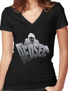 Watch Dogs 2 - DedSec Reaper V1 Women's Fitted V-Neck T-Shirt