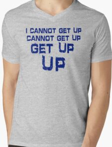 get up blue Mens V-Neck T-Shirt