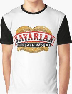 Bavarian Pretzel Logo Distressed Graphic T-Shirt