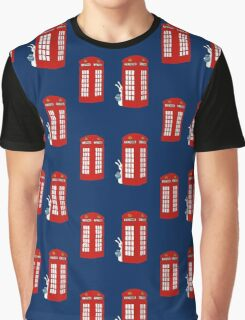 London Telephone Box and A Bunny Graphic T-Shirt