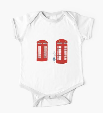 London Telephone Box and A Bunny One Piece - Short Sleeve