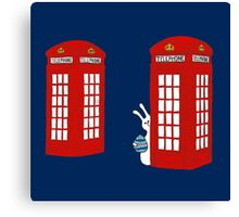 London Telephone Box and A Bunny Canvas Print