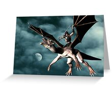 Dragon Sky Warrior Greeting Card
