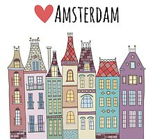 European houses in amsterdam by redchocolate