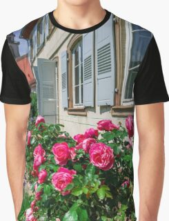 Botanic garden with blossom flowers, Andlau, Alsace, France Graphic T-Shirt