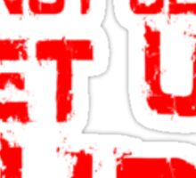get up red small Sticker