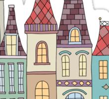 European houses in amsterdam Sticker