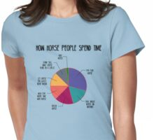 How Horse People Spend Time Womens Fitted T-Shirt
