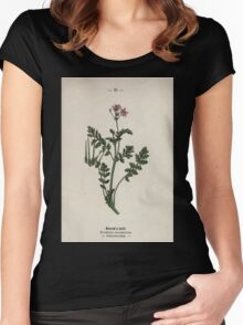 Wayside and woodland blossoms a pocket guide to British wild flowers for the country rambler  by Edward Step 1895 035 Stork's Bill Women's Fitted Scoop T-Shirt
