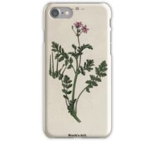 Wayside and woodland blossoms a pocket guide to British wild flowers for the country rambler  by Edward Step 1895 035 Stork's Bill iPhone Case/Skin