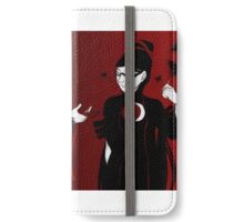 Red and Black iPhone Wallet/Case/Skin