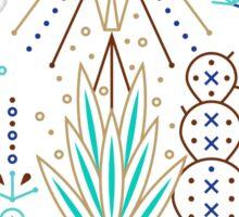 Santa Fe Garden – Turquoise & Brown Sticker