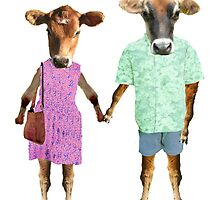 hipster cows by dinamadden