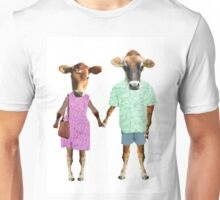 hipster cows Unisex T-Shirt