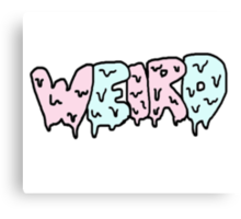 Weird Typography Canvas Print