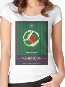 Wimbledon 2016- Strawberry and Cream } In Pursuit To Greatness  Women's Fitted Scoop T-Shirt