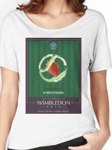 Wimbledon 2016- Strawberry and Cream } In Pursuit To Greatness  Women's Relaxed Fit T-Shirt