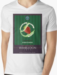 Wimbledon 2016- Strawberry and Cream } In Pursuit To Greatness  Mens V-Neck T-Shirt