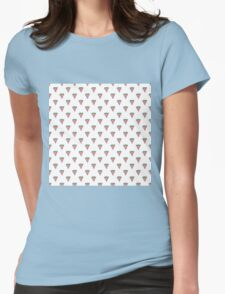 Watermelon Slices in Watercolors on White Womens Fitted T-Shirt