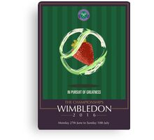 Wimbledon 2016- Strawberry and Cream } In Pursuit To Greatness  Canvas Print