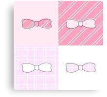 Pink Bows Canvas Print