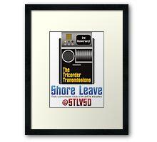 The Tricorder Transmissions - Shore Leave STLV50 Framed Print
