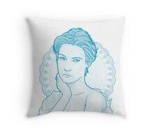 Summer evening (blue) Throw Pillow
