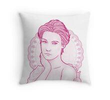 Summer evening (purple) Throw Pillow