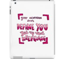 Your mistakes quote iPad Case/Skin