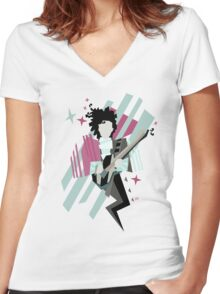 Ghost of the prince Women's Fitted V-Neck T-Shirt