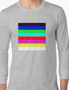 tv colour chart Long Sleeve T-Shirt