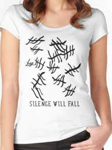 Silence Will Fall | Doctor Who Women's Fitted Scoop T-Shirt