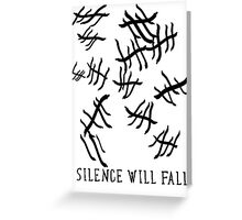 Silence Will Fall | Doctor Who Greeting Card