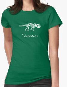 Triceratops Skeleton Womens Fitted T-Shirt