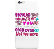 popular song lyric drawing iPhone Case/Skin