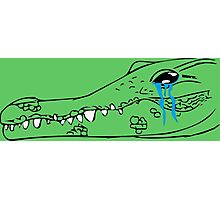 Crocodile Tears Photographic Print