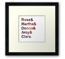 Doctor Who Companions Framed Print