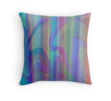 Pastel Drapes Throw Pillow
