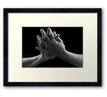 Darling, Hold My Hand Framed Print