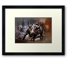 Raging Bull.New York. Framed Print