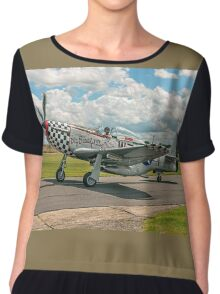 "CAC Mustang 23 A68-192 G-HAEC ""Big Beautiful Doll"" Chiffon Top"