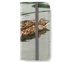 Duck Swimming in a Lake iPhone Wallet/Case/Skin