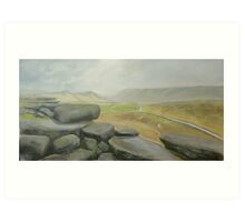 Wet day at Stanage Edge Art Print