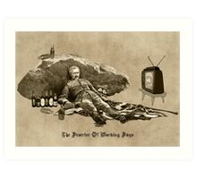 The Deserter of Working Days Art Print