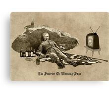 The Deserter of Working Days Canvas Print