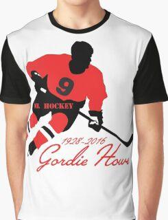 Gordie Howe Tribute - Mr. Hockey RIP Graphic T-Shirt